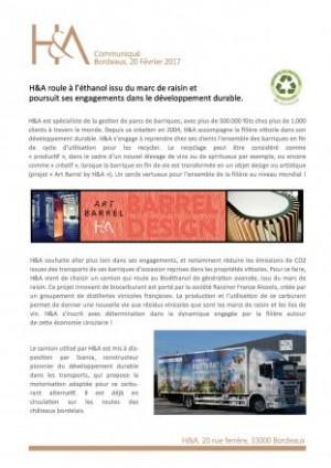 H&A funciona con bioetanol - Nota de prensa